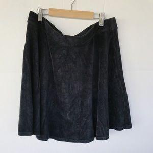 Forever21 Black corduroy skater skirt